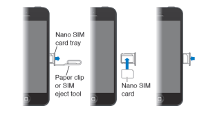 Insert SIM card into iPhone 5, 5S, 5C