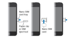 Insert SIM card into iPhone 5, 5S, 5C
